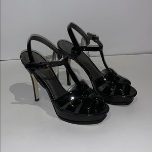 Guess by Marciano Black Patent Platform Heels